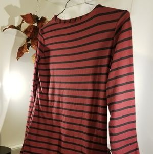 Rue 21 size medium maroon and black striped top